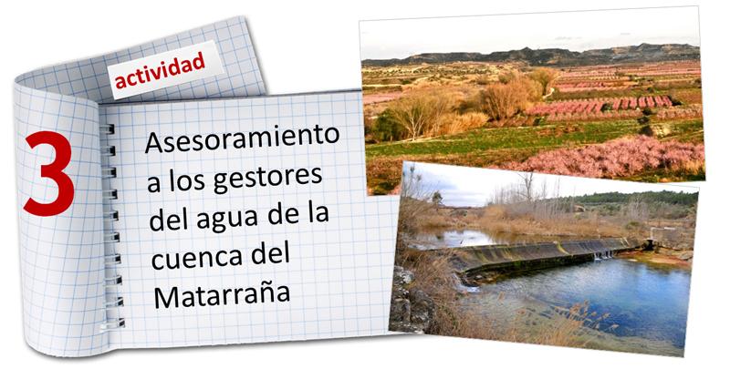 Asesoría para los gestores del agua de la cuenca del Matarraña
